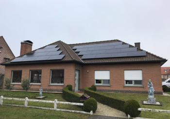 AEG mono black 290 wp GLAS + GLAS zonnepanelen in Dentergem